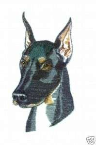 DOBERMAN PINSCHER DOG Tote Bag breed black purple NEW