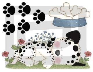 PUPPIES PUPPY DOG BABY NURSERY WALL ART STICKERS DECALS