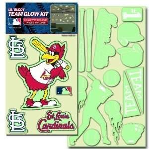 St. Louis Cardinals Lil Buddy Glow In The Dark Decal Kit