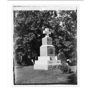 Historic Print (L) Conn.[Connecticut] Monument. Arlington