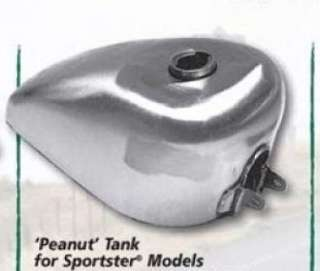 RAW STEEL 2.4 GALLON PEANUT GAS FUEL TANK FOR HARLEY SPORTSTER & K