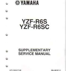 2004 Yamaha YZF R6 Supplement Manual Only Yamaha Motors Books