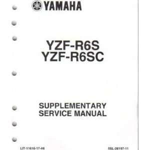 2004 Yamaha YZF R6 Supplement Manual Only Yamaha Motors Books
