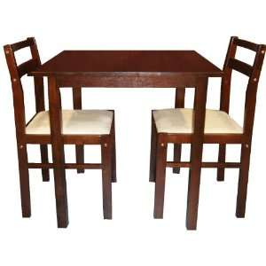 Dining Room Set (Table + 2 Chairs) Cappuccino Arena