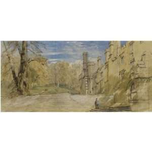David Cox   32 x 32 inches   Haddon Hall, Derbyshire 1