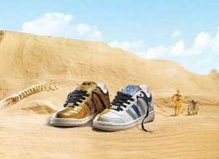 Adidas Star Wars Top Ten Low DROID Shoes C3PO R2D2 NIB