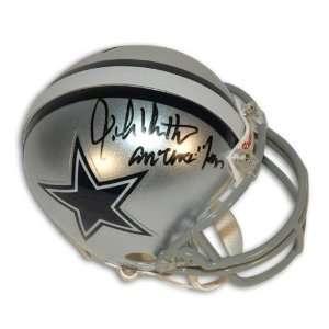 John Dutton Autographed Dallas Cowboys Mini Helmet