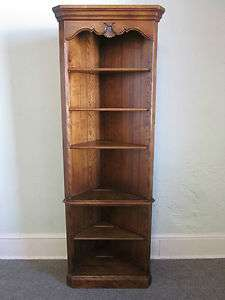 Ethan Allen Country French Corner Bookcase Unit (A)