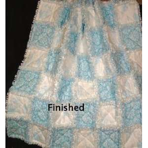 & white Toile Pre Cut/Fringed Rag Quilt Kit: Arts, Crafts & Sewing