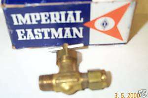 Imperial eastman needle valve 1/8 NPT pipe 3/16 tube od
