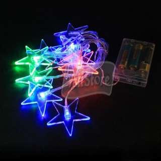 5M 10Led Pentagram Colorful LED light String Lamp New