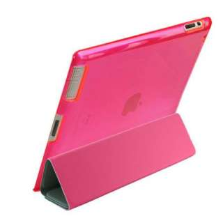 Pink Smart Cover + Pink Hard Protective Back Case +3 Stylus Pen For