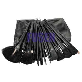 Black 32in1 Pro Cosmetic Makeup Brush Set Kit+Case bag