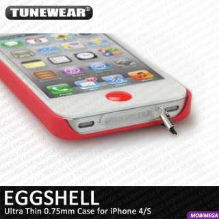Tunewear Eggshell Ultra Thin 0.75mm Case Cover Shell iPhone 4 4S w