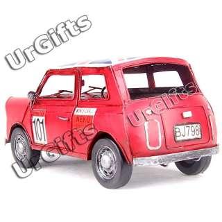 Vintage Hand Made Metal Art Bar Decor Old Car Model Union Jack Mini R