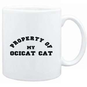 Mug White  PROPERTY OF MY Ocicat  Cats Sports