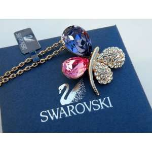 Necklace   100% Pure Swarovski Crystal Throught ,16 Gold Plated Chain