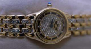 18K Gold Concord Moonphase Watch w/ Diamonds Everywhere ESTATE