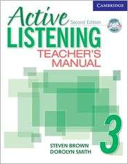 Active Listening 3 Teachers Manual with Audio CD, (0521678226), Steve