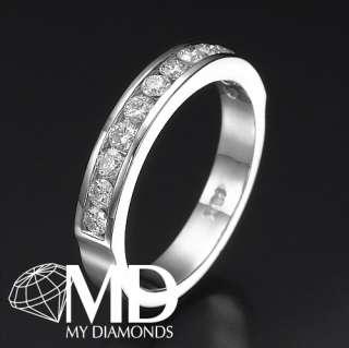 55 CT DIAMOND WEDDING BAND 14KT WHITE GOLD CUT NEW RING