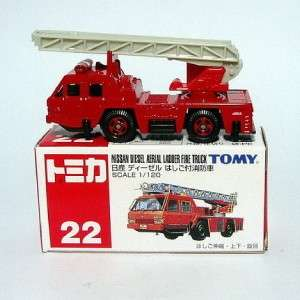 No.22 Nissan Diesel Aerial Ladder Fire Truck 1120 Diecast Car