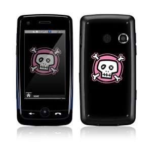 Pink Crossbones Decorative Skin Cover Decal Sticker for LG