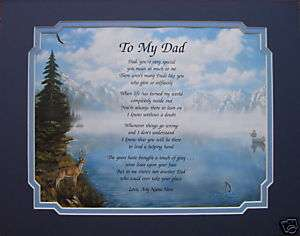 TO MY DAD PERSONALIZED POEM BIRTHDAY or CHRISTMAS GIFT