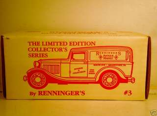 ERTL 1932 FORD PANEL DELIVERY TRUCK RENNINGERS DIECAST