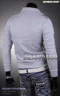 Designer Zip Slim Fit Jacket Top Coats Shirts Military S M L XL 8905 T