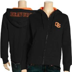 Oregon State Beavers Ladies Black Academy Full Zip Hoody Sweatshirt