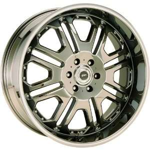JR Tank 22x9.5 Black Chrome Wheel / Rim 6x5.5 with a 18mm Offset and a