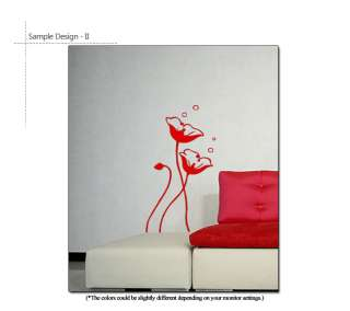 Removable Vinyl Decal DIY Wall Sticker POPPY FLOWERS