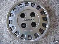 1986 86 Hyundai Excel wheel cover hub cap hubcap 13