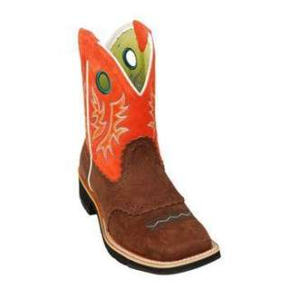 FATBABY COWGIRL WESTERN BOOTS 6,7,8,9,10,11~BROWN & ORANGE~