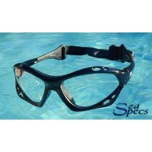 SeaSpecs Black Clear Specs Extreme Sunglasses