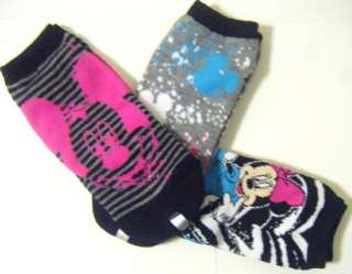 DISNEY MINNIE MICKEY MOUSE WOMEN LOW CUT ANKLE ADULT SOCKS SZ 9 11