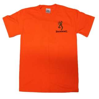 Safety Orange Browning Camouflage Buckmark T Shirts   Logo Color Camo