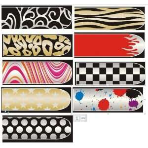 BK 16 Sheets Nail Art Stickers Decals 9 Different Styles Beauty