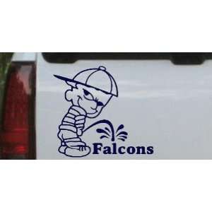Pee On Falcons Car Window Wall Laptop Decal Sticker    Navy 20in X 18