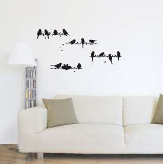 Little Birds Adhesive Removable Wall Decor Accents Graphic Sticker