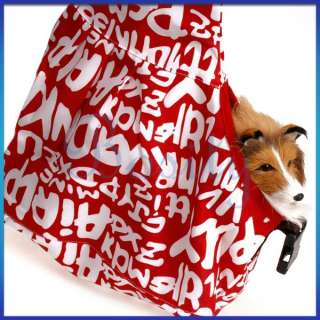 Fashion Red White Oxford Sling Pet Carrier Cat Dog Tote Single