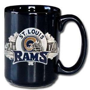 St. Louis Rams 12oz Black Coffee Mug Sports & Outdoors