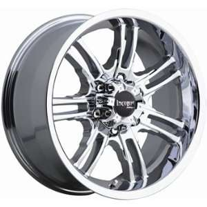 Incubus Lotta 17x8 Chrome Wheel / Rim 5x5 with a 0mm Offset and a 74