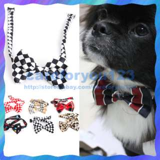 Fashion Hot Random Color New Dog Cat Pet Collar Accessory Bow Tie