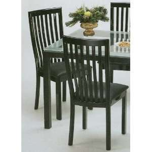 Set of 2 Manhattan Black Metal Frame Dining Room Chair