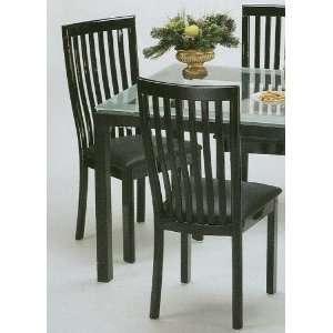 Set of 2 Manhattan Black Metal Frame Dining Room Chair