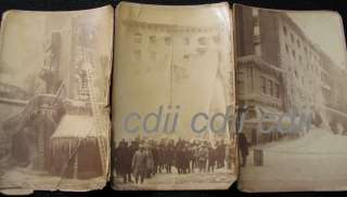 Boston Fire Department Firefighters Cabinet Card Photos
