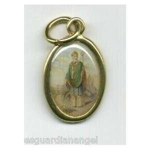 Medal From Italy with Holy Prayer Card and Velour Bag
