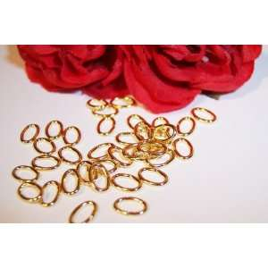 4x6mm Oval Open Jump Rings 22kt. Gold Plated Q.100 Arts