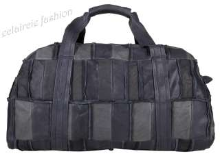 LANVIN Patchwork Leather Duffle Travel Bag NEW